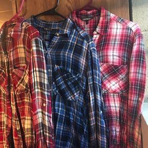 THREE flannels